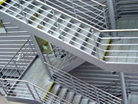 Лестничные марши, пожарные лестницы